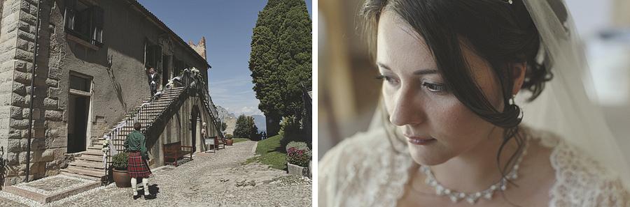 preparing for the Malcesine Castle Wedding