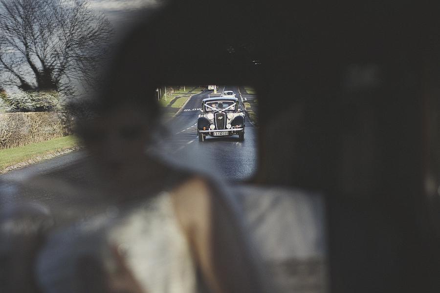 Through the Wedding Car