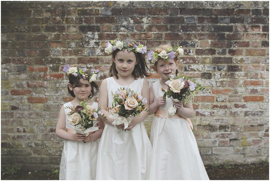 flower girls with flora headbands