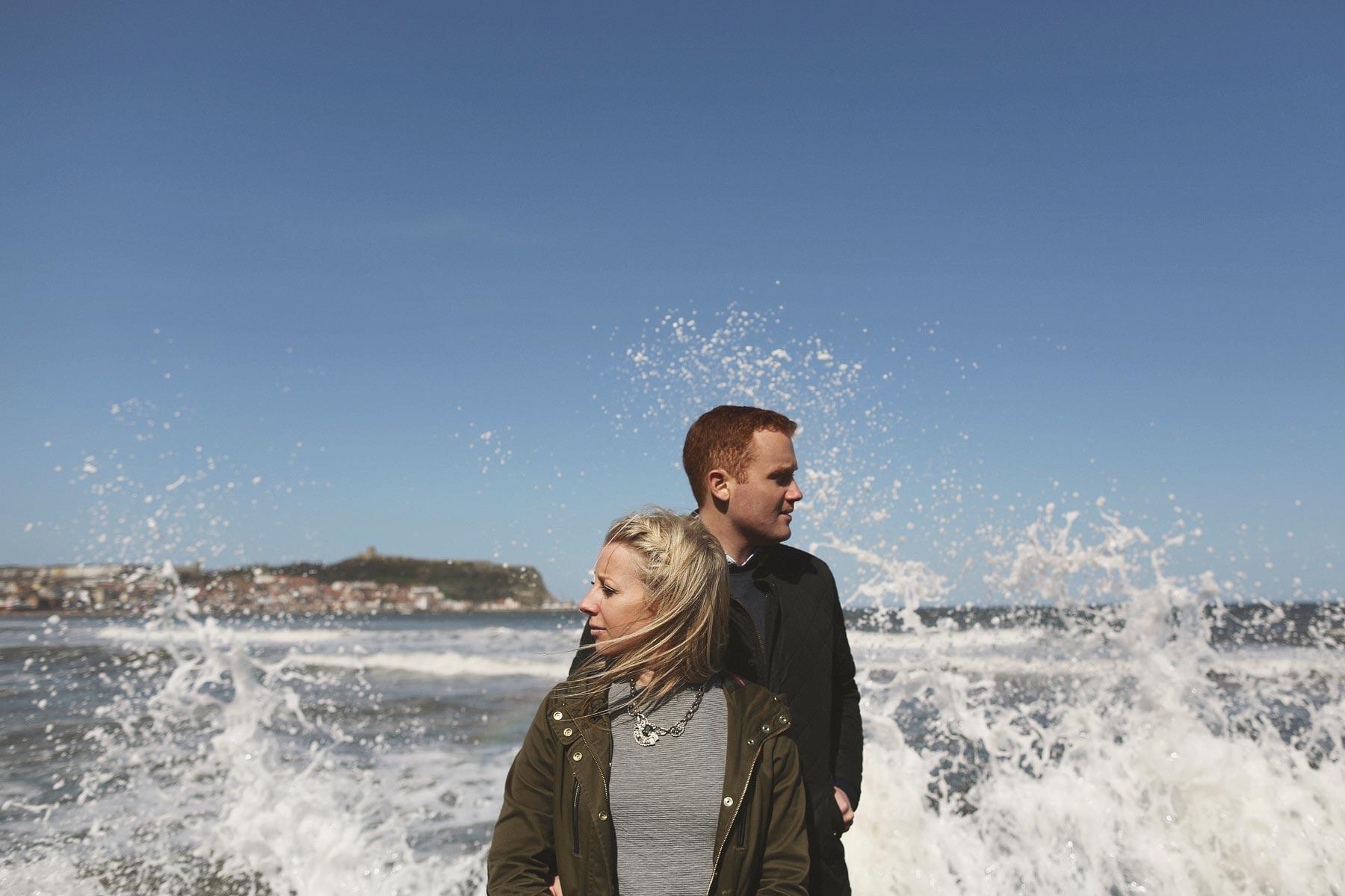 Scarborough Seaside Engagement Shoot