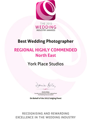The 2015 Wedding Industry Awards REGIONAL HIGHLY COMMENDED