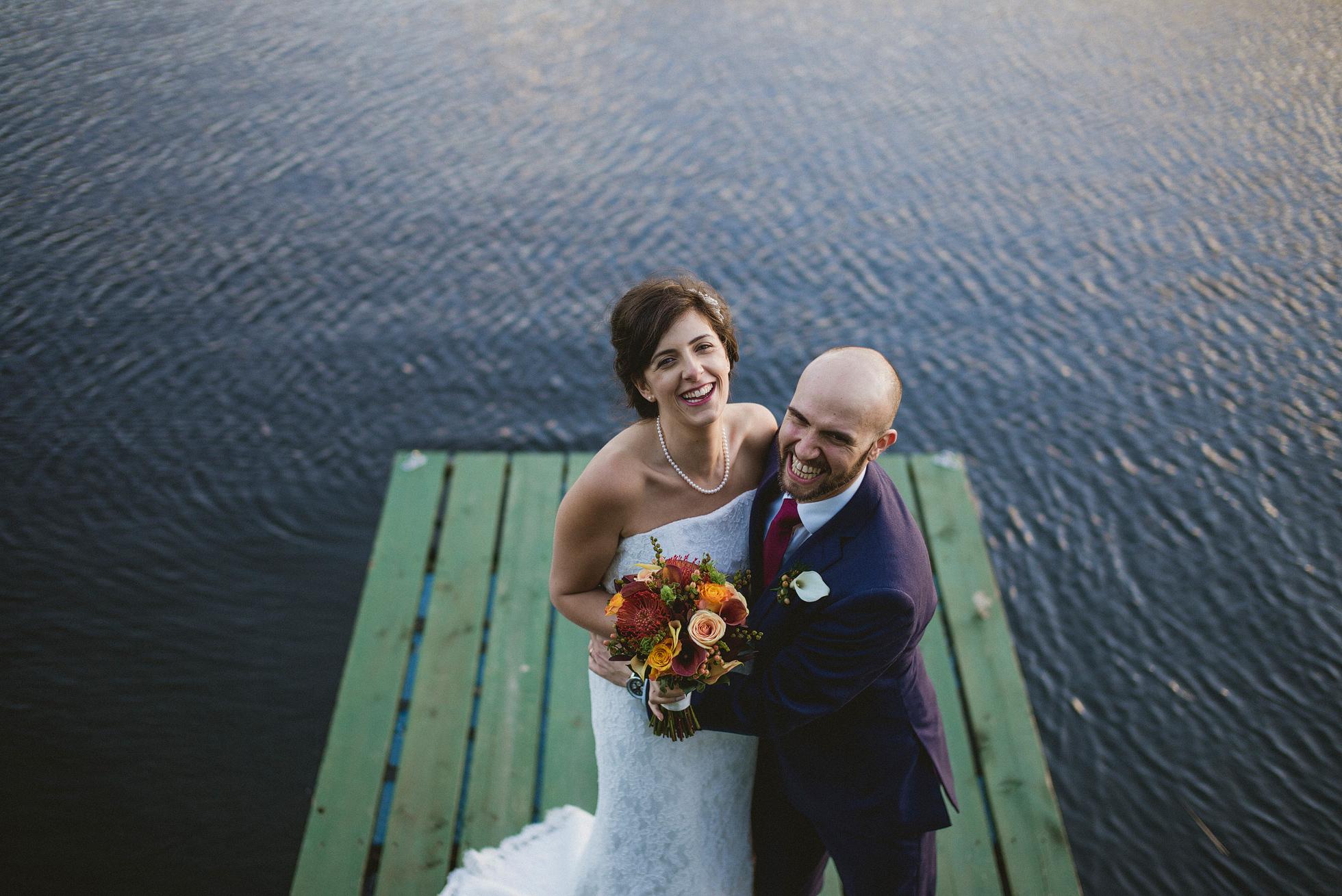 South Farm bride and groom portrait