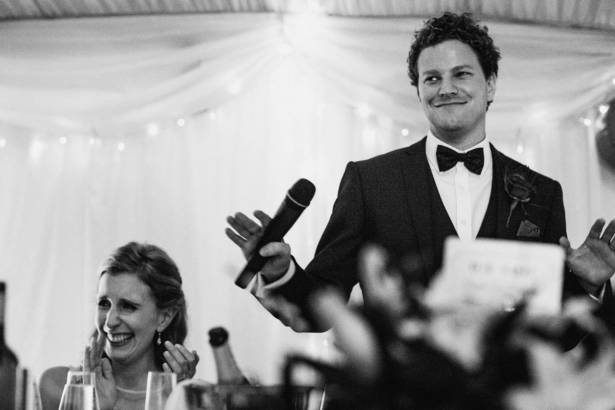 Wedding Speeches at Middleton Lodge