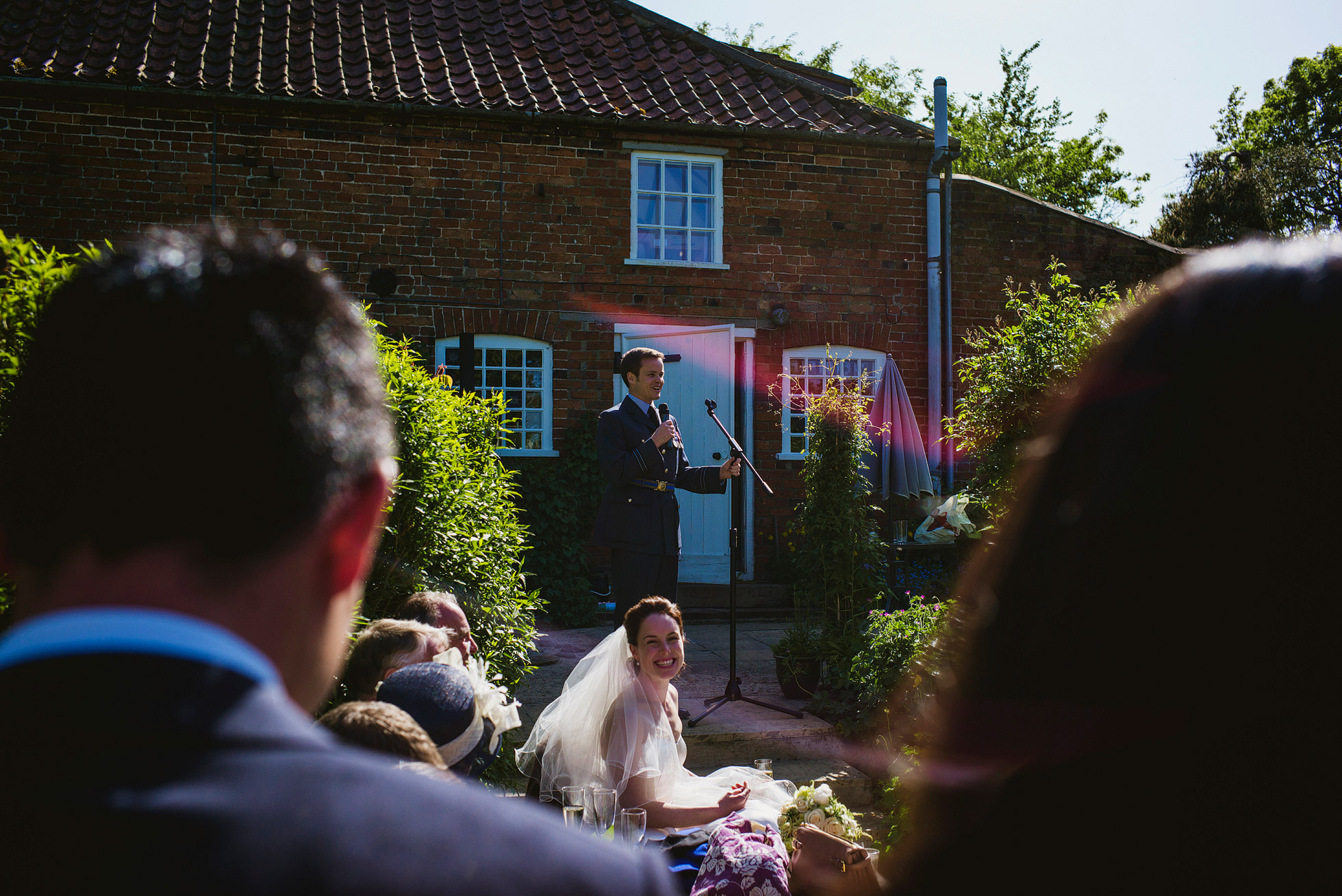 Garden Marquee Wedding Speeches