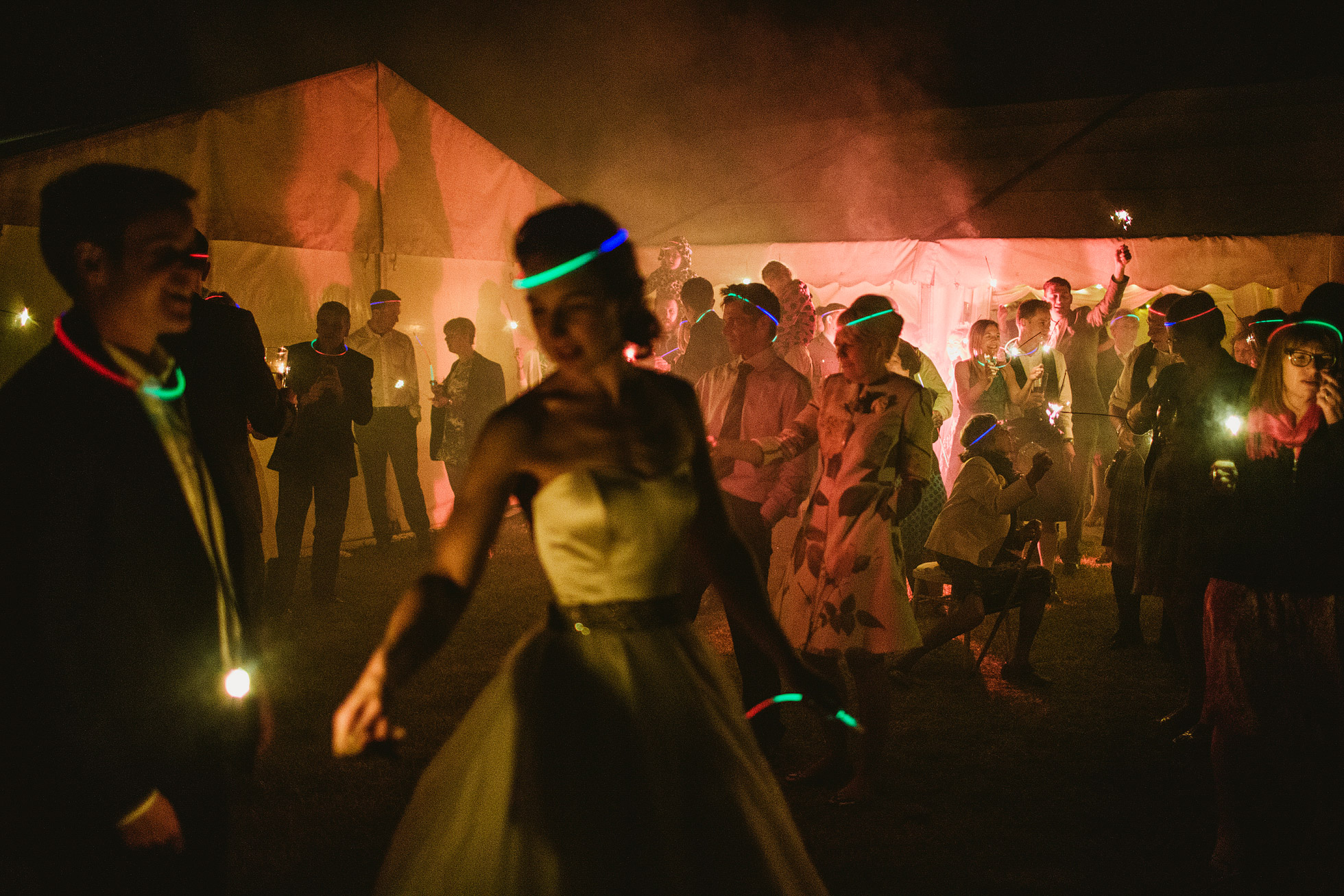Glow Sticks Wedding Photography