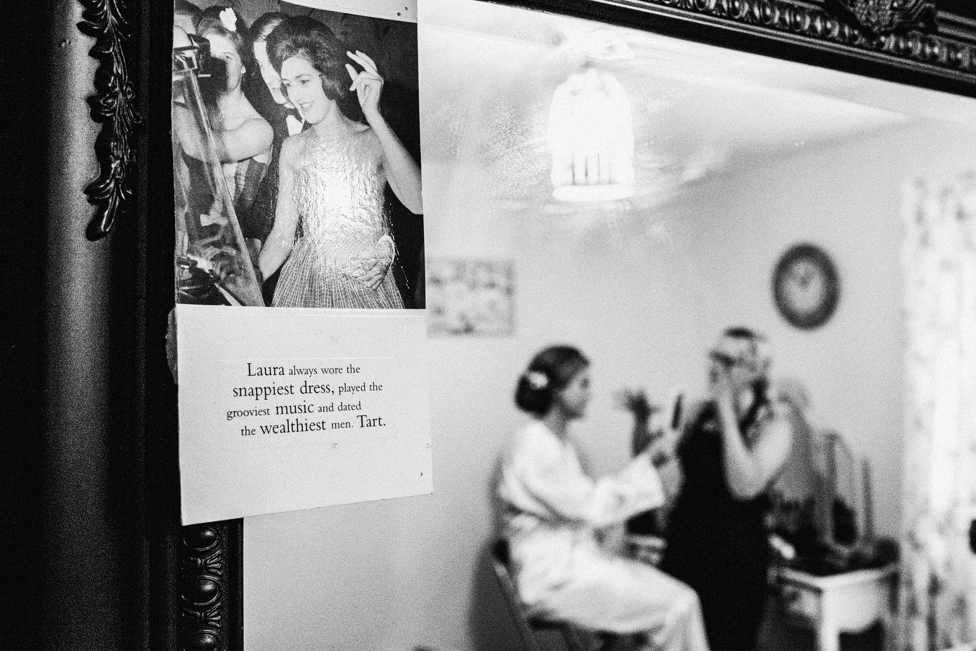 Black and White Bridal preparations