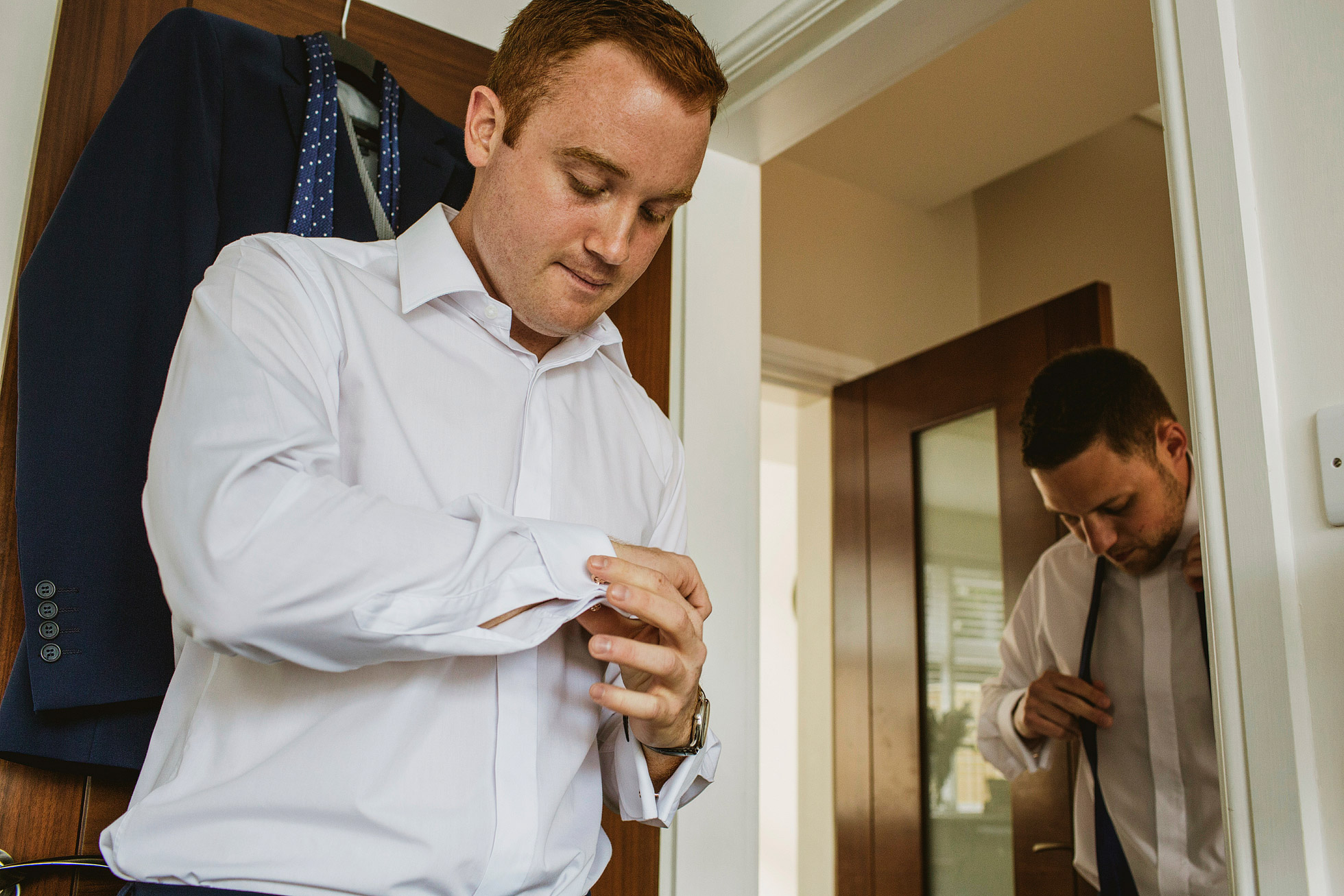 Stanley House Wedding Groom Preparations
