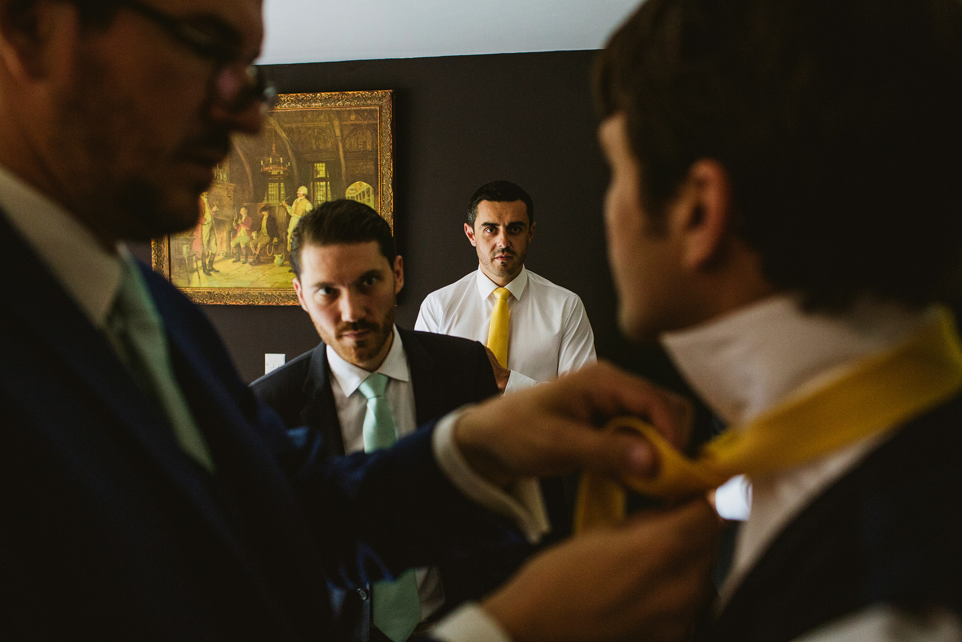 Groomsmen morning preparations with the Leica M