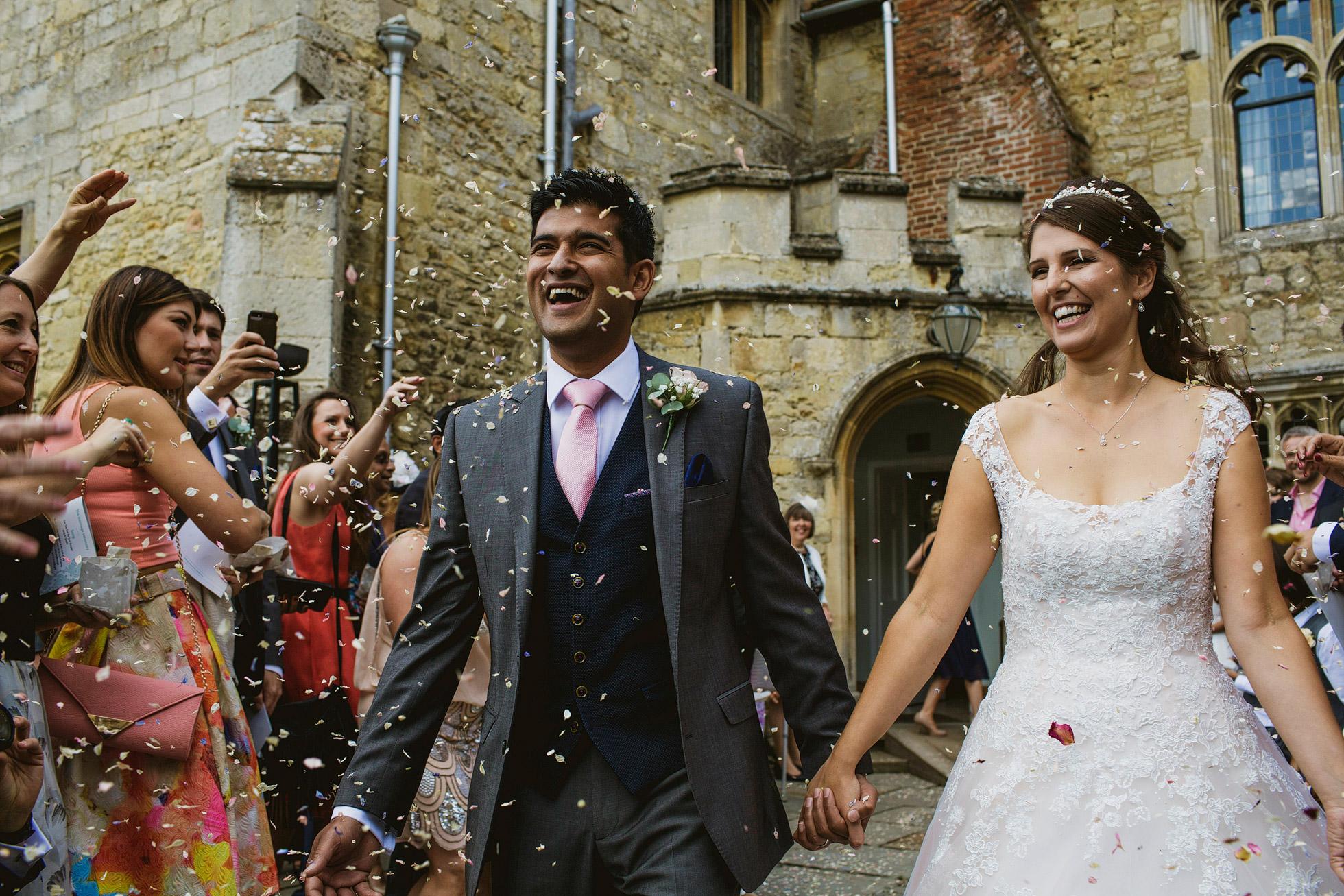 Notley Abbey Wedding Confetti