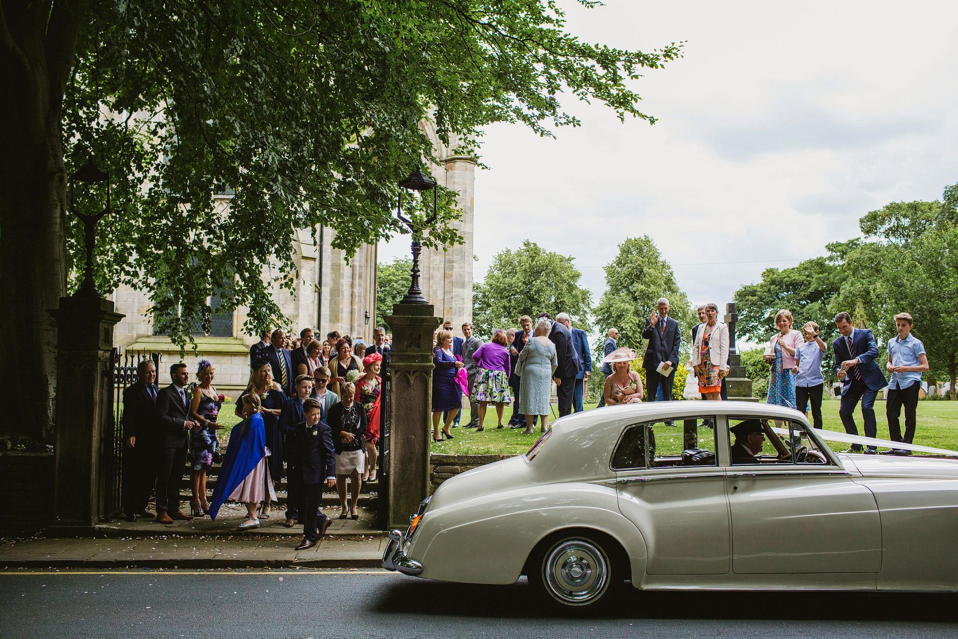 Stand Parish Wedding Departure
