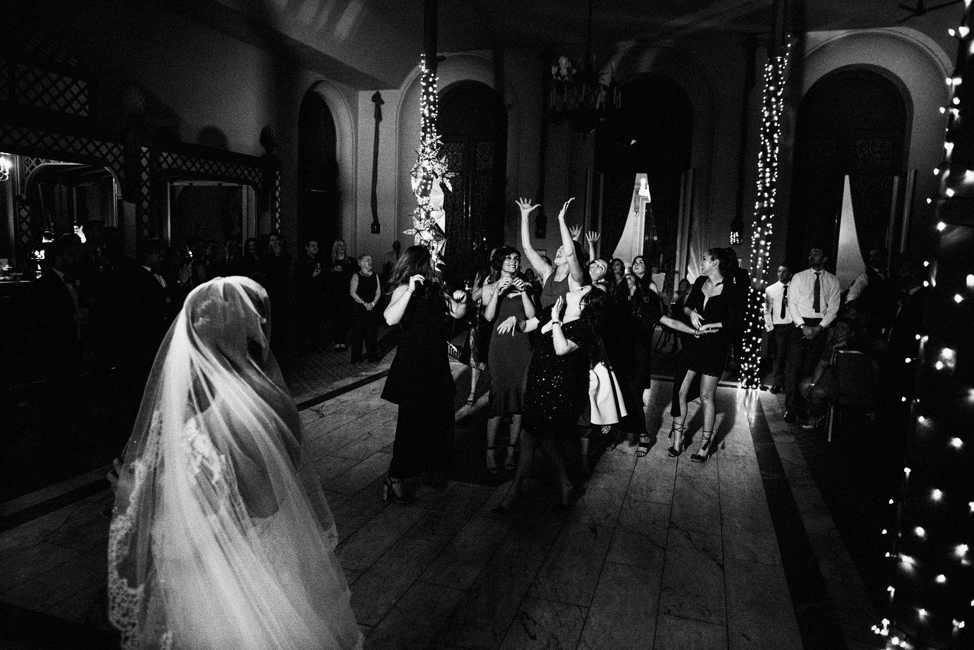 Wynyard Hall Throwing of the Bouquet