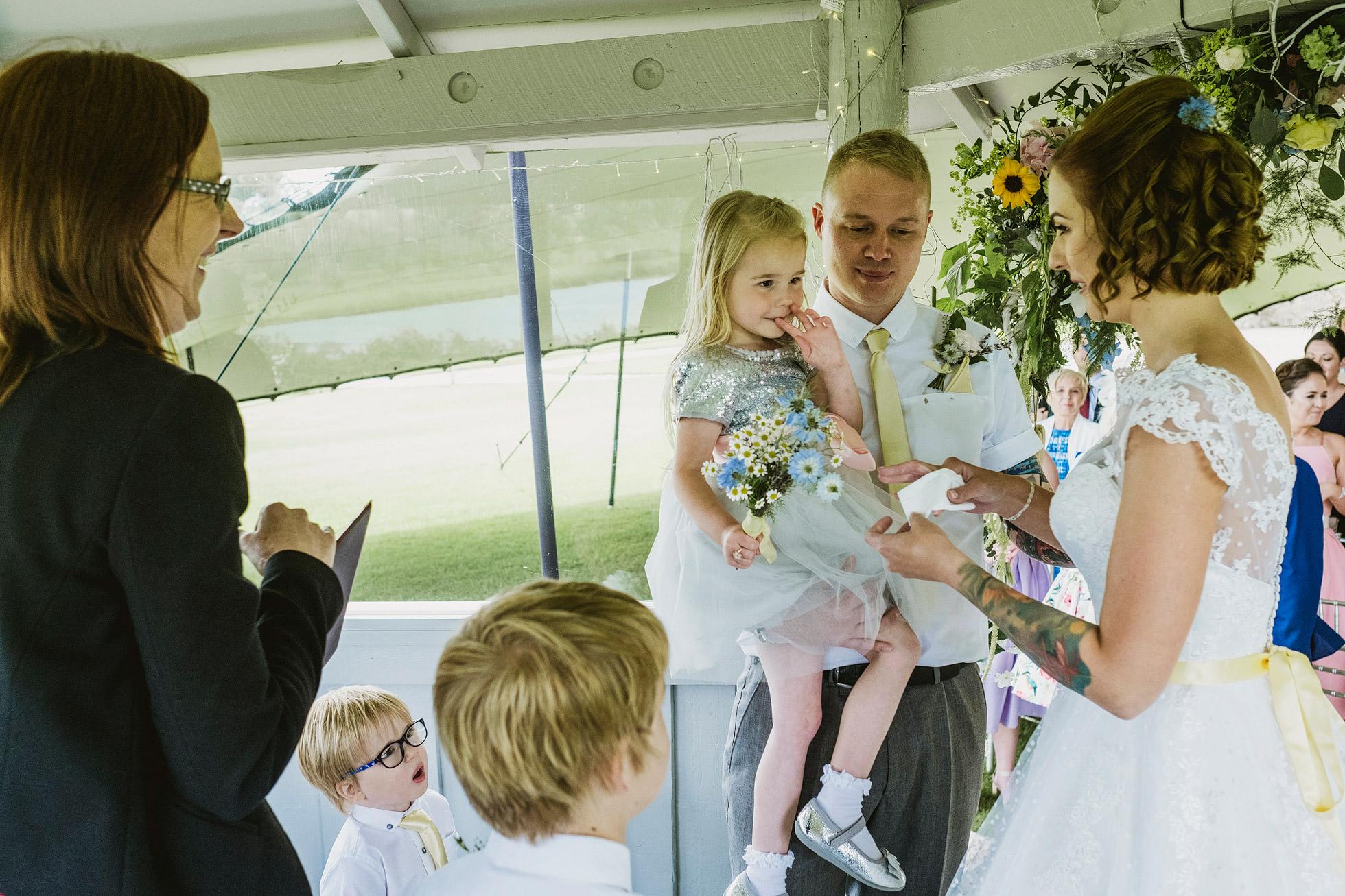 Yorkshire Wedding Barn Wedding Ceremony