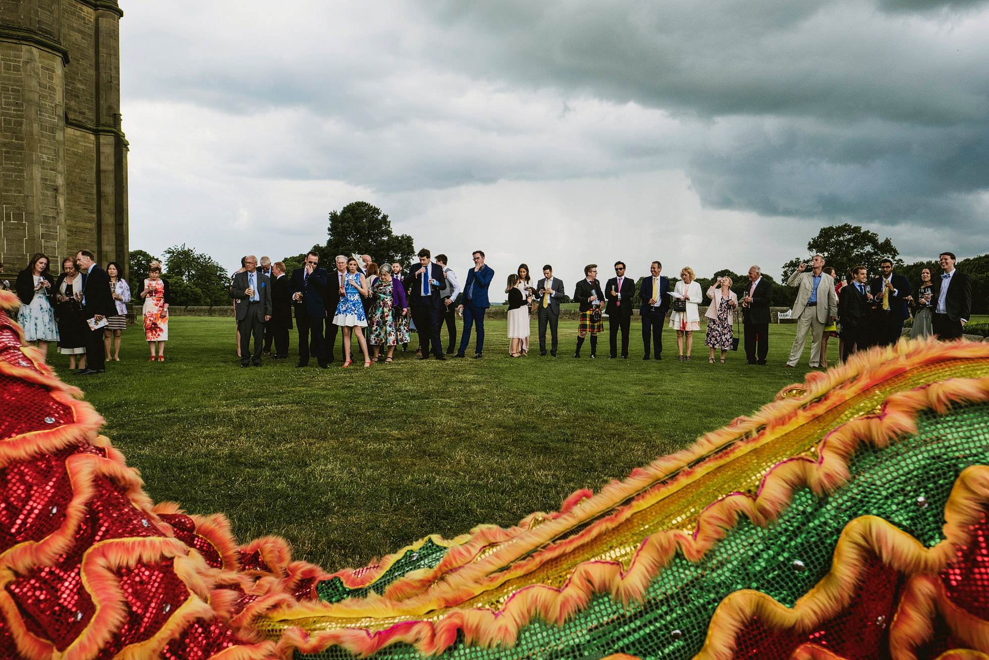 Allerton Castle Chinese Lion Dance Wedding Photography