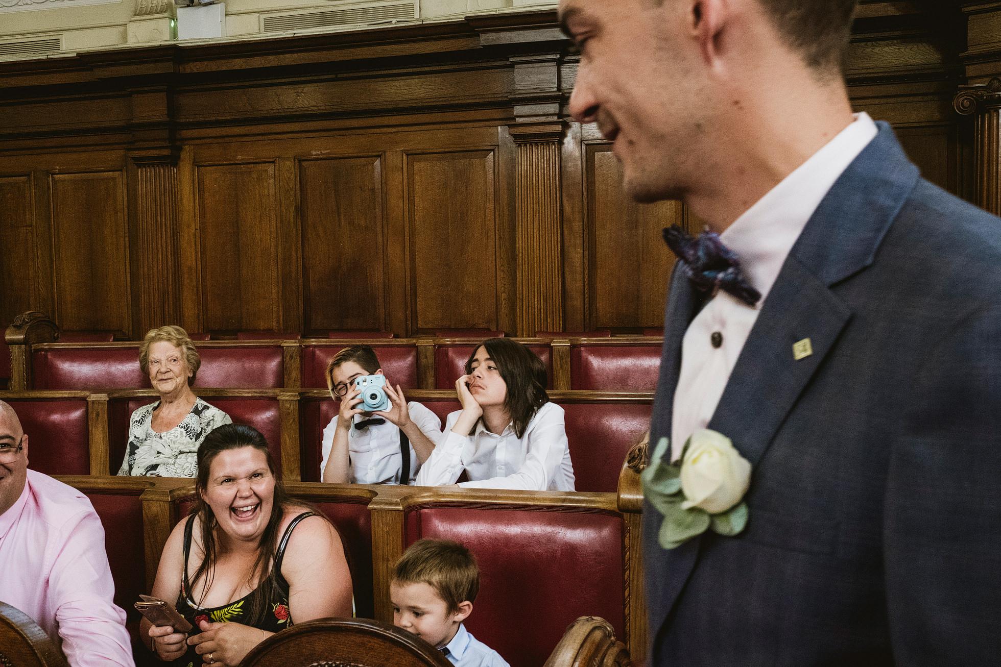 Islington Town Hall Documentary Wedding Photographer