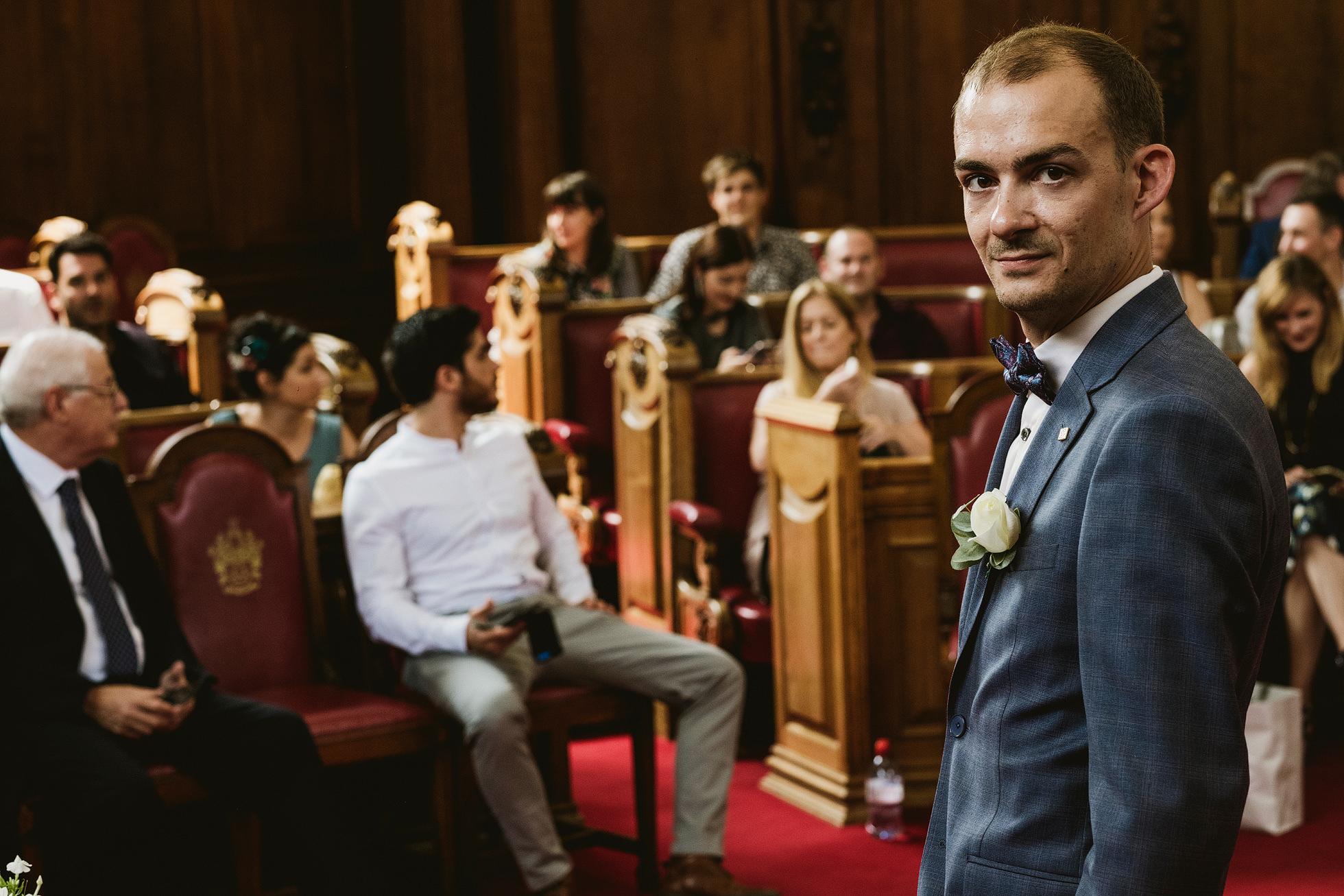Islington Town Hall Documentary Wedding Photograph
