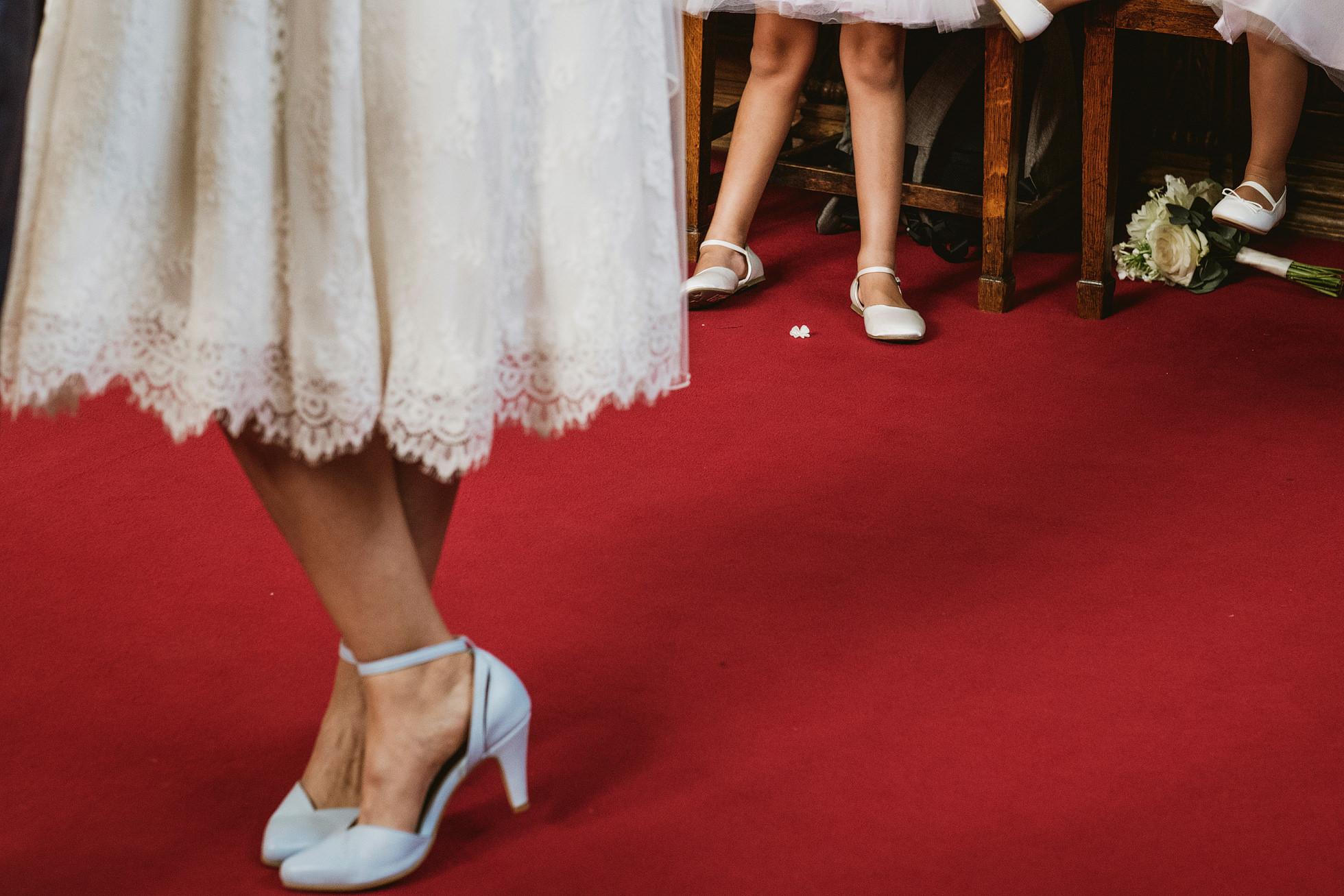 Wedding shoes Islington town hall