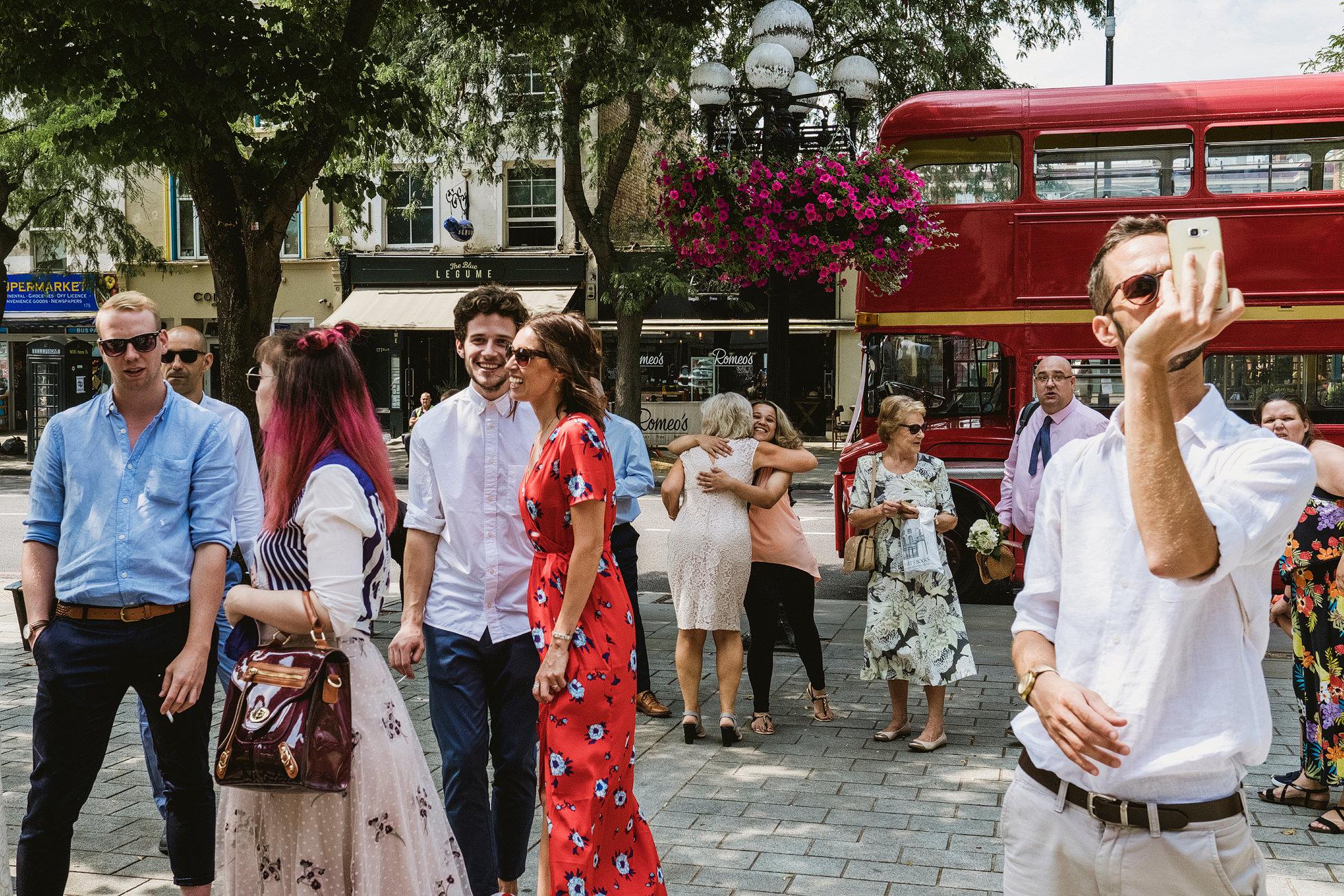 London red bus wedding transport Islington