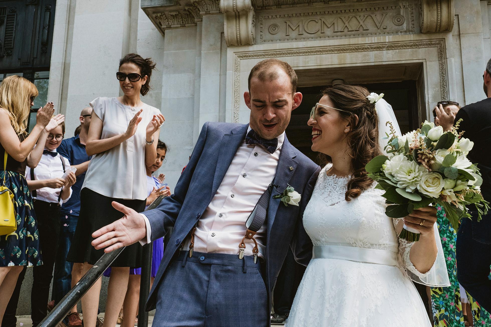 Islington Town Hall Reportage Wedding Photographer