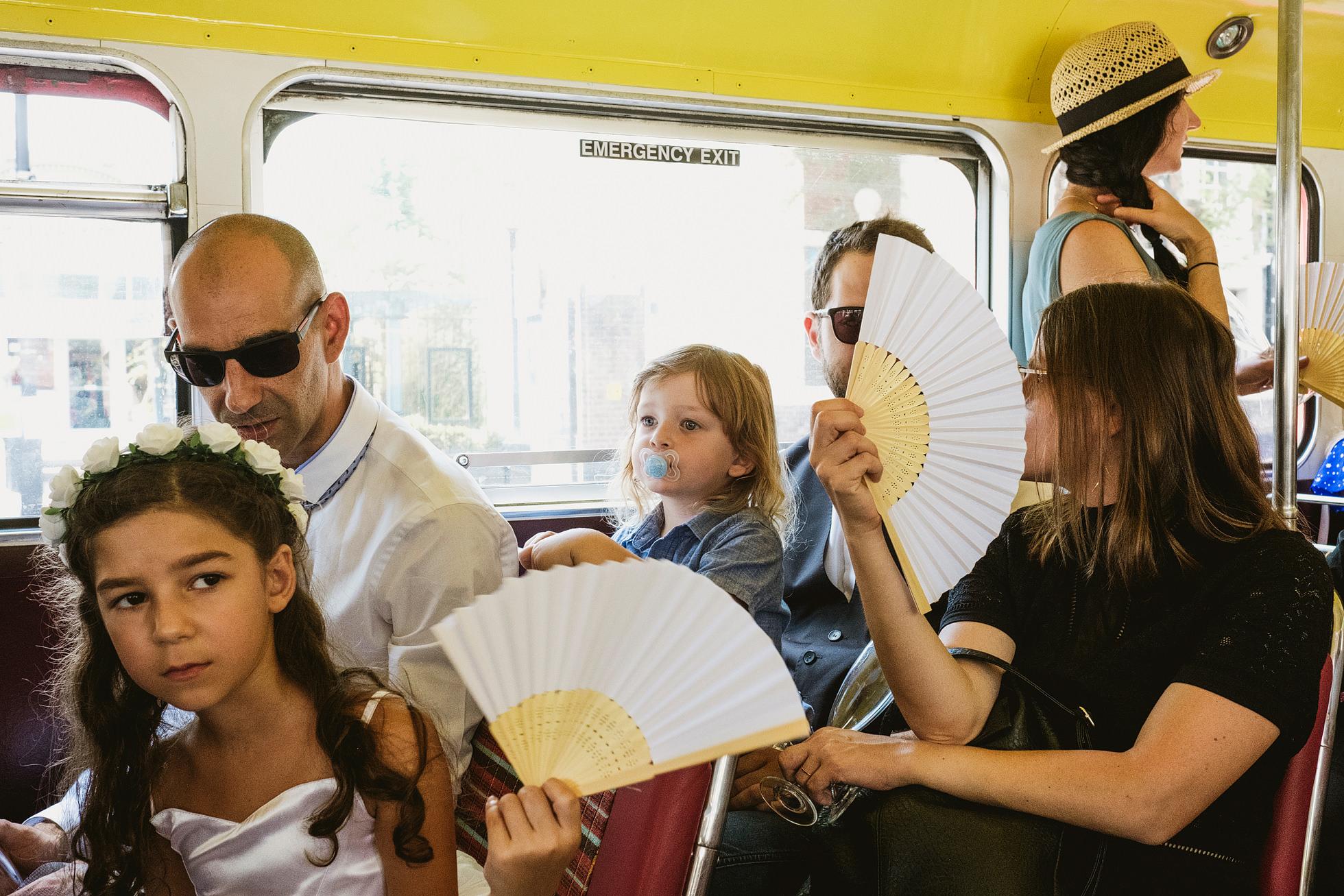London Routemaster bus Wedding Photograph