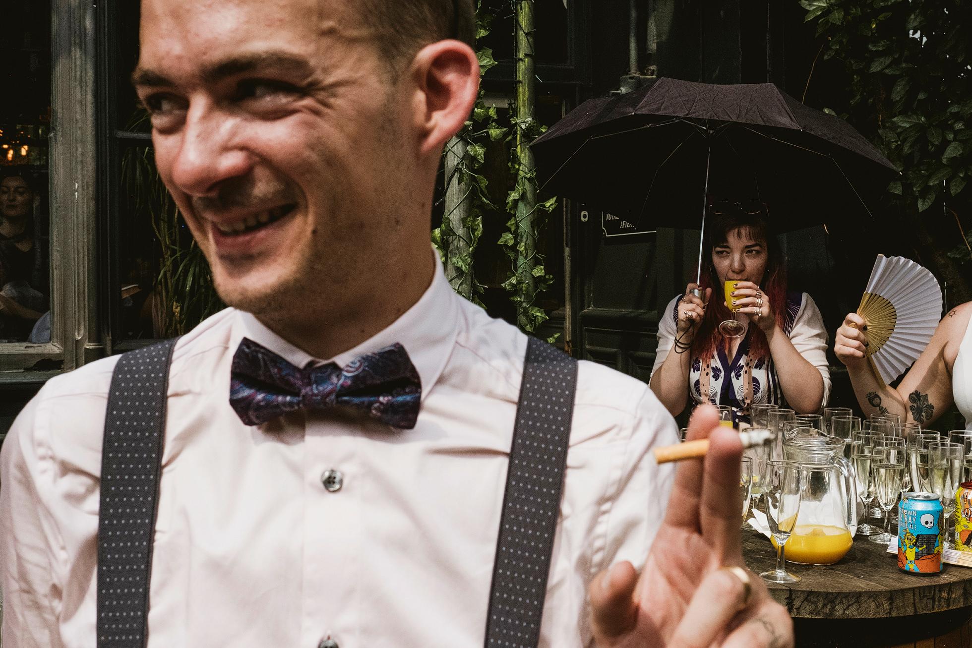 Street Wedding Photography, London Island Queen
