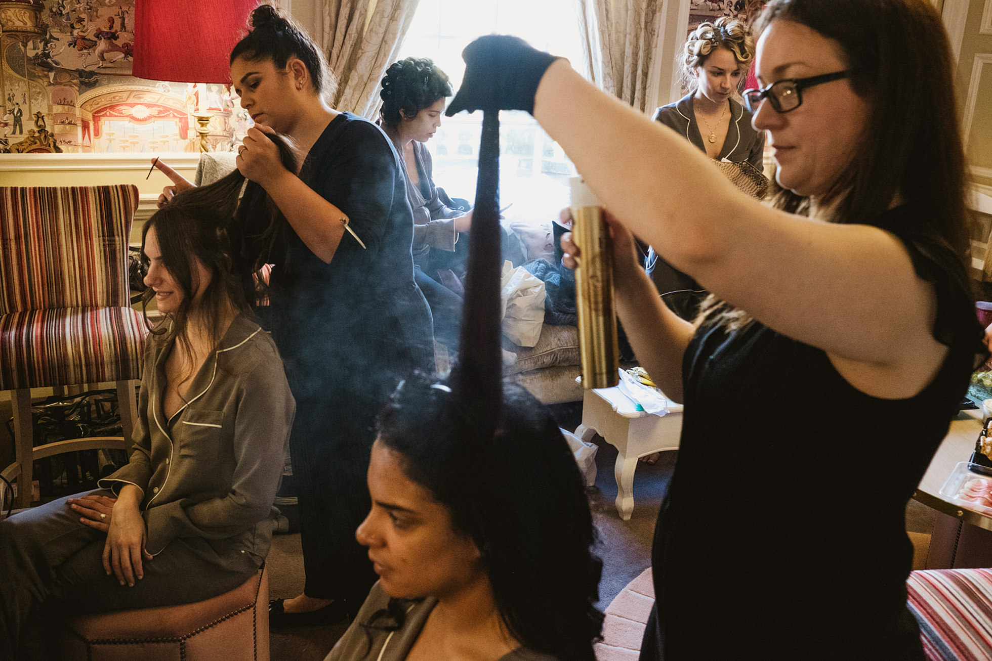 hair and makeup at Hedsor house wedding