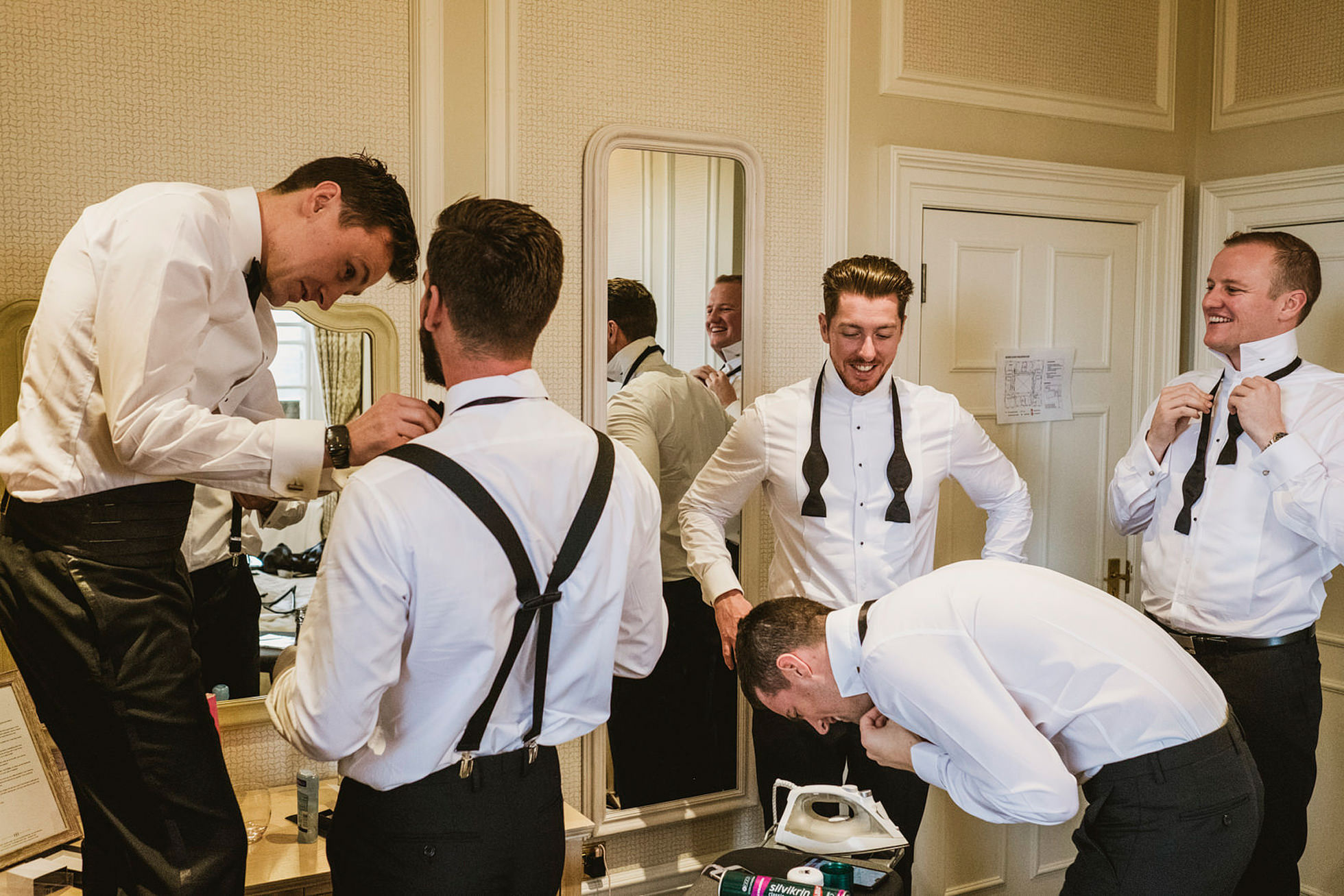 Groomsmen bow-ties, Buckinghamshire wedding