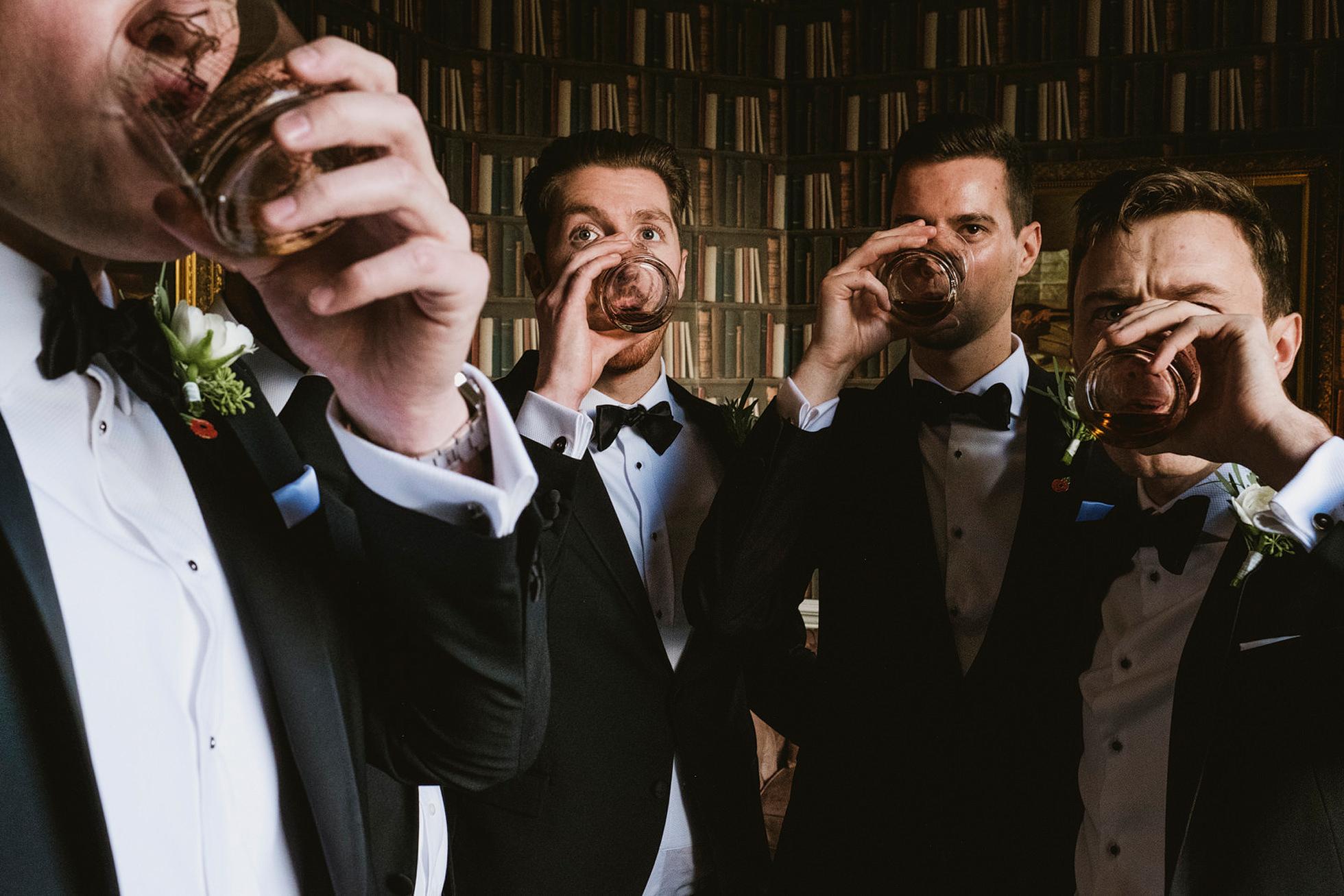 Pre-wedding drinks, Hedsor House