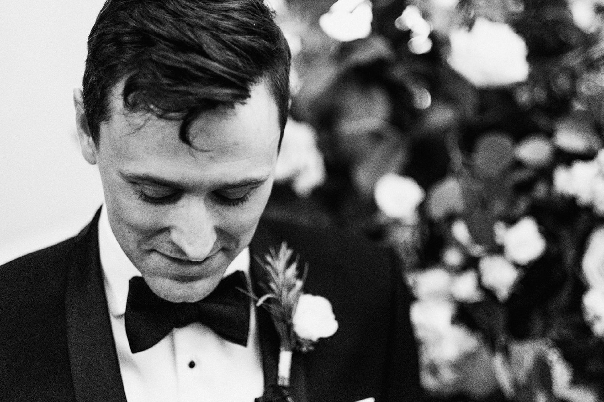 nervous groom before ceremony at Hedsor House