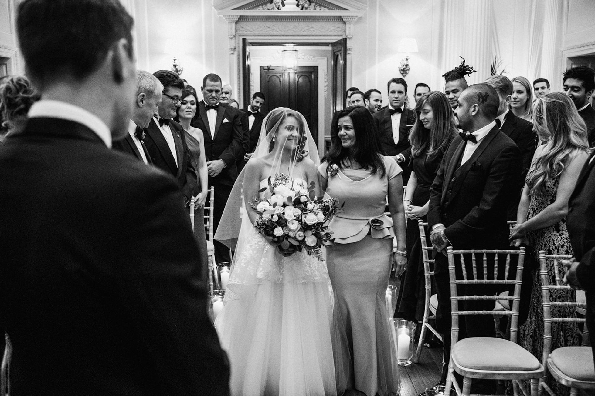 Bridal entrance, Hedsor house wedding photograph